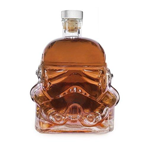 Authome - Botella de cristal transparente para whisky, cerveza y whisky, 700 ml, para decoración de carpas, whisky, whisky, casco, vaso de cristal resistente al calor, para whisky, cerveza, marca