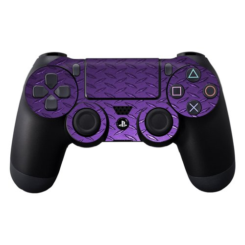 Protective Vinyl Skin Decal Skin Compatible with Sony Playstation DualShock 4 Controller wrap Sticker Skins Purple Diamond Plate