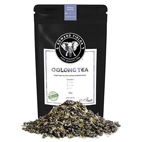 Edward Fields Tea ® - Té azul Oolong orgánico de origen único China. Té bio recolectado a mano, 100 gramos.
