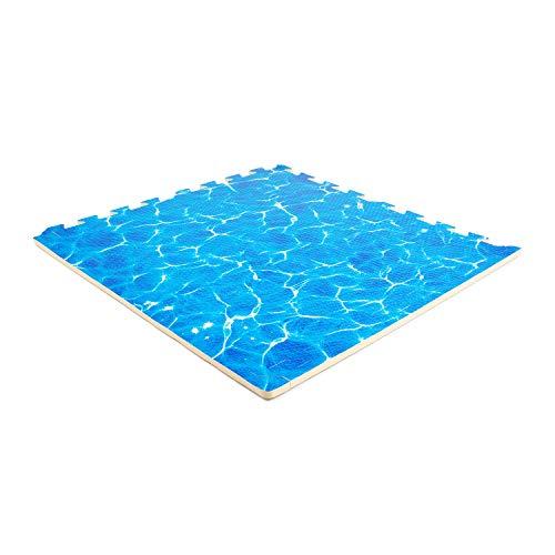 EVA-SCHAUM Puzzlematten Wasser 600x600x12mm (Set 4 St.) | Sportböden | Gummimatten