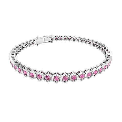 Rosec Jewels 14 quilates oro rosa redonda Pink Tourmaline