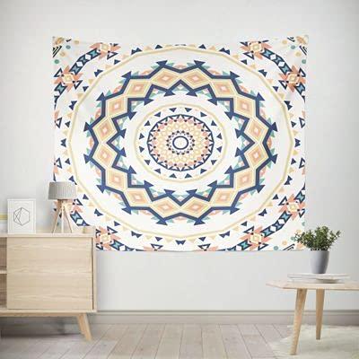PPOU Nieuwe Decoratieve Bohemian Polyester Tapestry Gedrukt Bohemen Stijl Muur Wit Wandtapijt Strand Handdoek Muur Opknoping Home Decor A3 130x150cm