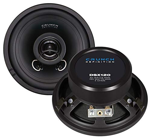Crunch DSX120 altavoz audio 2-way 160 W Round - Altavoces para coche (2-way, 160 W, 80 W, 4 Ω, 120 mm, 55 mm)