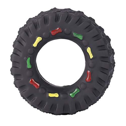 Pennytupu Tiergeräusche Reifenform Haustier Hundespielzeug Welpe Katze Kaut Quietschende Gummispielzeug Quietschende Reifen Haustier Spielzeug langlebig