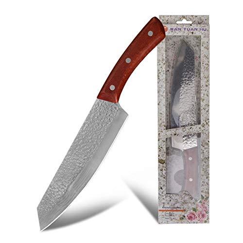Geschmiedete Kochmesser, Japanisches Messer, 8-Zoll-Hackmesser Handgefertigte Voller Zapfen-Messer-Werkzeug FüR Die Jagd-üBerlebens-Kochen Im Freien,Typ 1