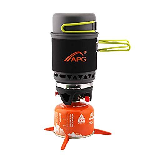Sistema de cocina de mochila de camping, encendido piezoeléctrico de bajo consumo...