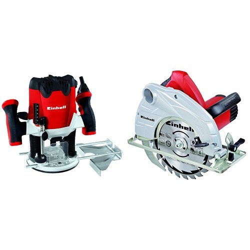 Einhell RT-RO 55 - Fresadora (1200 W) + TH-CS 1400/1 - Sierra...