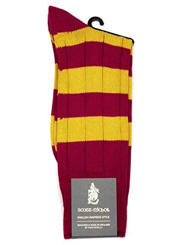 Scott Nichol Ely Rugby Strip Sock - Orchid/Mag Orchid/Mag Medium