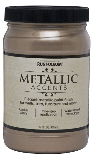Rust-Oleum 253601 Metallic Accents Paint, Quart, Champagne