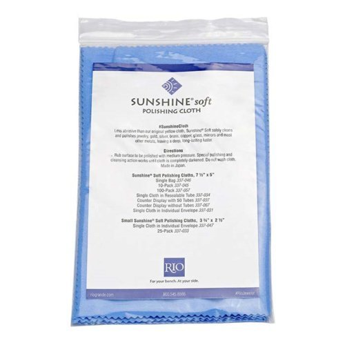 Sunshine 3 Individually Packaged and Sealed Blue Soft Polishing Cloth Jewelry Polisher Brass Gold Silver