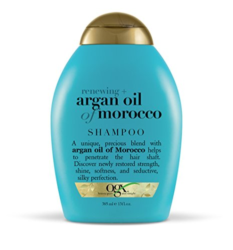 OGX Renewing + Argan Oil of Morocco Hydrating Hair Shampoo, ColdPressed Argan Oil to Help Moisturize, Soften & Strengthen Hair, ParabenFree with SulfateFree Surfactants, Moroccan Argan Oil, 13 Fl Oz