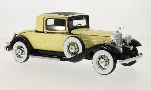 Packard 902 Standard Eight Coupe, hellgelb/schwarz 1932 Maßstab 1:18 - Resine - Fertigmodell BoS-Models