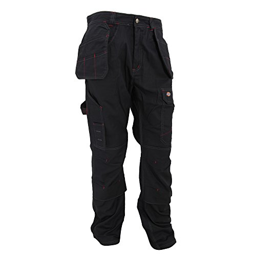 Dickies Redhawk - Pantalones de Trabajo Modelo Pro Work Hombre Caballero (Longitud Pierna 86cm-Long) (Cintura 117cm) (Negro)