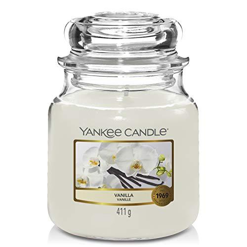 Yankee Candle Candela profumata in giara media   Vaniglia   Durata Fino a 75 Ore