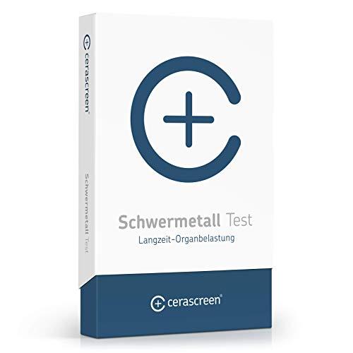 cerascreen® Schwermetall Test Kit – Testet: Aluminum, Arsen, Blei, Cadmium, Chrom, Cobalt, Kupfer, Nickel, Quecksilber und Zink | Schwermetall Belastungs- Test | Urintest