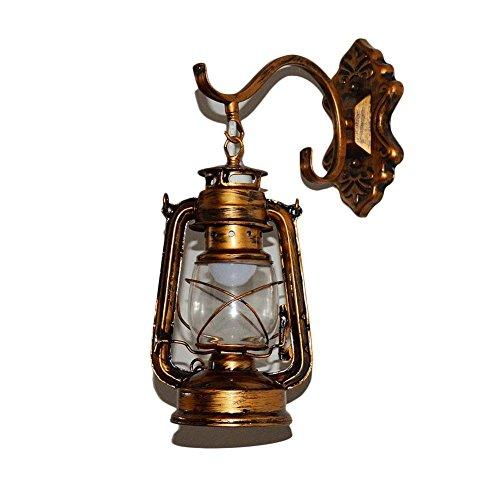 Rishx Vintage antike Laterne Petroleumlampe Wand Leuchte Glas Schatten Retro Loft Schmiedeeisen Wohnzimmer Treppen Korridor dekorative Wandleuchte