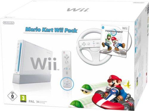 Nintendo Wii - Console Mario Kart Pack, Bianca [Bundle]