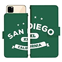 AQUOS sense4 SH-M15 スライド式 手帳型 スマホケース スマホカバー dslide515(B) サンディエゴ カリフォルニア アメリカ スマートフォン スマートホン 携帯 ケース アクオス アクオスセンス4 手帳 ダイアリー フリップ スマフォ カバー