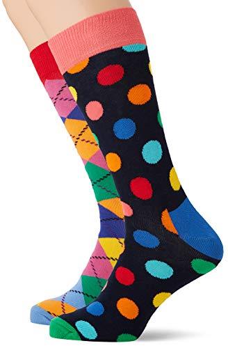 Happy Socks Herren Christmas Cracker Big Dot Gift Box Socken, Mehrfarbig (Multicolour 650), 7/10 (Herstellergröße: 41-46)