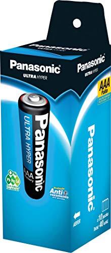 Pilha Comum Linha Super Hyper Proteção Antivazamento, Panasonic, R03UAL/4S40, Cinza, pacote de 40