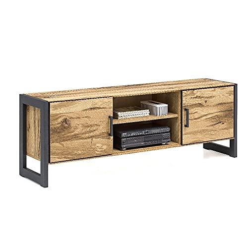 roominado Janne Lowboard - Mueble para televisión (167,5 x 60,5 x 40 cm, madera de roble)
