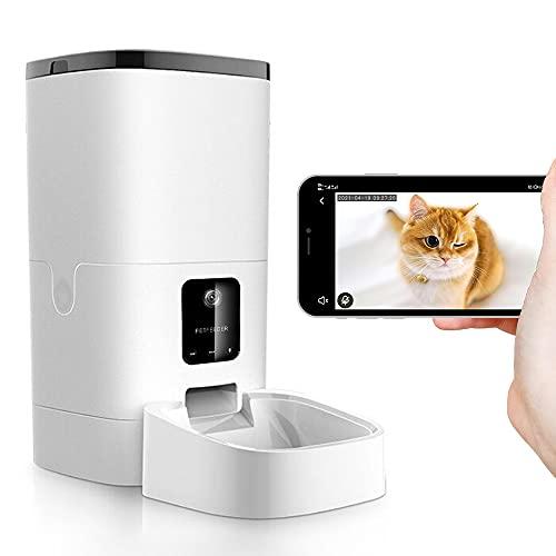 自動給餌器 カメラ付き 自動餌やり機 猫 犬 えさやり器 4L大容量 タイマー式 定時定量 1080P 留守番のペットと対話でき 自動ペット餌やり カメラ フードオートフィーダー 2WAY給電 最大20日間連続自動給餌 iOS/Android対応 日本語説