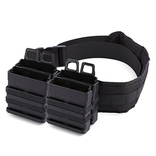 FenglinTech Clip Mags Holder, Clip Magazine Pouch Quick Pull Box and Belt Kit for Nerf Party - (Black)