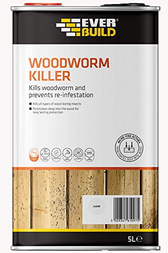 Everbuild Woodworm Killer, Clear, 5 Litre