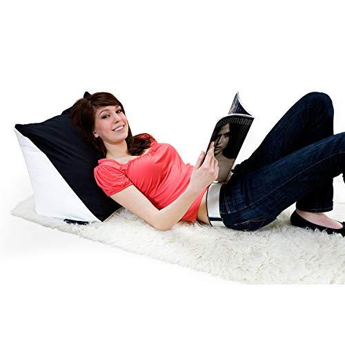 Bookworm Lesekissen - ergonomisches Keilkissen Nackenkissen mit Mikroperlen Ergonomie Kissen Rückenstütze Bücherkissen für lange Lese Stunden und Kuschelige Nächte