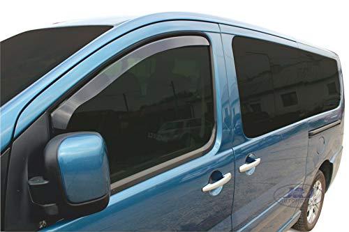 J&J AUTOMOTIVE | Deflecteurs d'air Déflecteurs de Vent Compatible avec Peugeot Expert 2007-2016 2pcs
