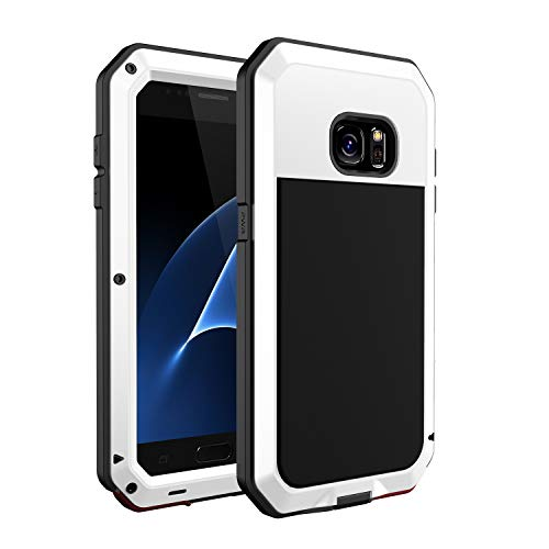 seacosmo Galaxy S7 Case, Shockproof Dustproof Water Resistant Military Grade 360 Full Body Protective Case with Built-in Screen Protector Heavy Duty Rugged Drop Resistant Case, White