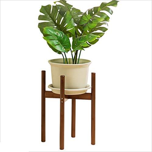 ZhaoLiRuShop Plante Jardinière Stand Bamboo Jardinière Salon Plancher Shelf Intérieur Balcon Plante Jardinière (Color : Brown, Size : 40 * 28 * 28cm)