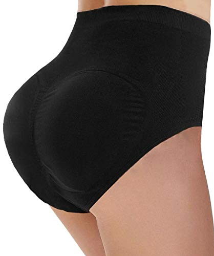 CeesyJuly Womens Padded Booty Booster Butt Lifter Shaper Firm Control Panties Black