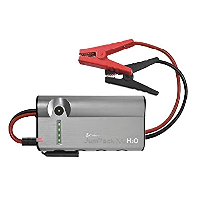 Cobra CPP15000 JumPackXL H20 3in1 Portable Power: Jump Starter, Battery Charger, Power Pack with LED Flash Light, Jumper Cables & 12,000mAh for Instant Power to Car, Boat or Motorcycle, Grey