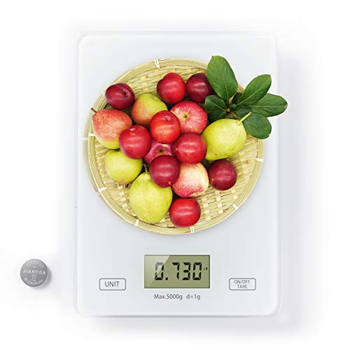 GotoMoto Food Scale, Multifunction Digital Kitchen Scale Measures in Grams and Ounces,Family Meal Prep