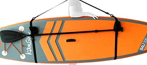 Kangui - Sangle de Portage pour Stand up Paddle Gonflable avec Fixation pagaie