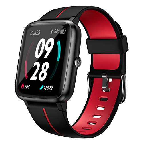Holabuy Smartwatch,  Reloj Inteligente Mujer Hombre Niños con Podómetro Caloría GPS,  Pulsera Actividad Inteligente con Monitor de Sueño Pulsómetro,  Pulsera Actividad Impermeable 5ATM para Android iOS