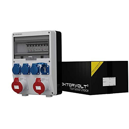Umschalter 0-1 Doktorvolt® Wandverteiler 9771 Stromverteiler BAU 2x16A 3x230V