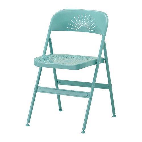 IKEA FRODE - silla plegable, turquesa