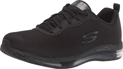 Skechers Women's Skech-Air Health Care Professional Shoe, Black, 8 M US