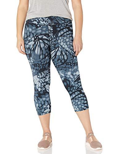 JUST MY SIZE Women's Plus Size Active Stretch Capri, Wingspan Grey, 4X