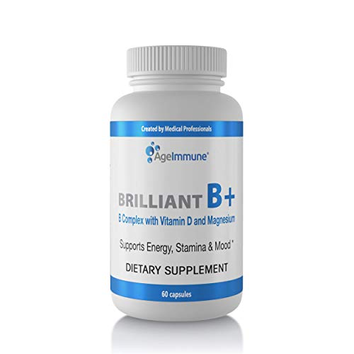 Price comparison product image Vitamin B Supplements Complex with B6,  D,  Magnesium,  Methylated B12 and Folate (Folic Acid). Doctor Formulated Vitamins for Neuro and Energy Support,  Helps with Stress.