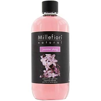 Millefiori 7REJY Jasmine Ylang - Ricarica da 500 ml per diffusore di fragranza Naturale, plastica, Rosa, 7,6 x 6,5 x 17,7 cm