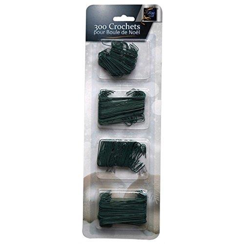 Crochets noirs pour boules de Noël - Pack de 300