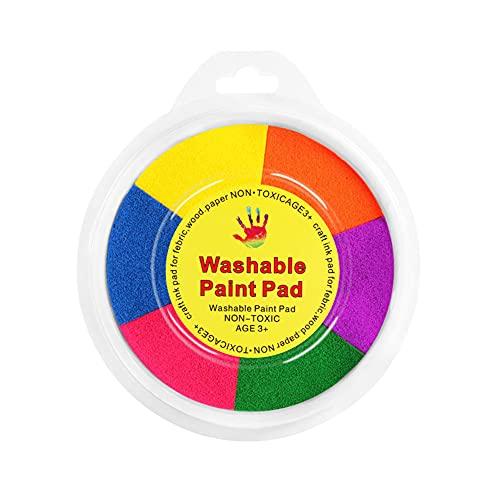 ISAKEN Set di colori per dito, Set di Pittura Lavabile per Bambini, Divertente Kit per dipingere con Le Dita, Kit di Strumenti educativi per dipingere