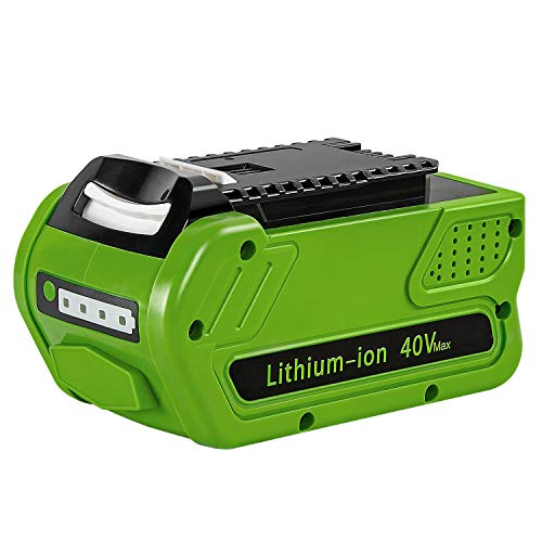 Amityke 40V 6000mAh Battery Replacement Compatible with GreenWorks 29472 G-MAX Power Tools 29252 20202 22262 25312 25322 20642 22272 27062 21242