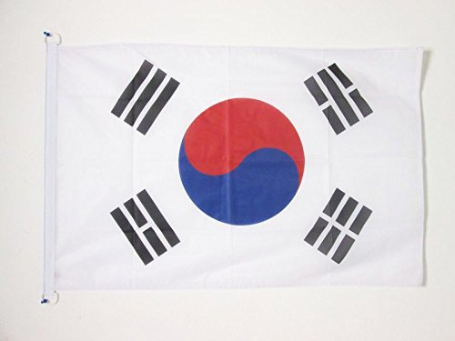 AZ FLAG Flagge SÜDKOREA 90x60cm - KOREANISCHE Fahne 60 x 90 cm Aussenverwendung - flaggen Top Qualität