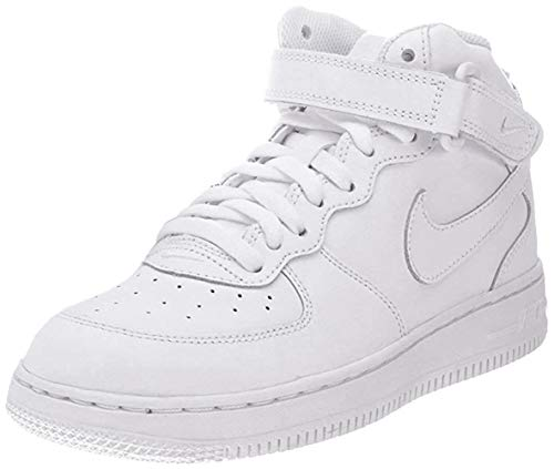 Nike Force 1 Mid (PS), Scarpe da Ginnastica Bambino, Bianco (White/White/White 113), 30 EU