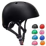 KORIMEFA Casque Vélo Enfant 3-13 Ans Casque pour Filles Garçons Bébés Protection Roller Enfant (Noir, M)