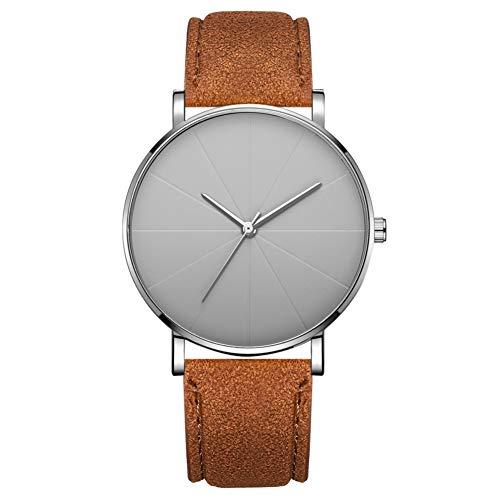 Ver Reloj De Moda Simple Dial Redondo Pantalla Analógica Dispositivo De Cuarzo Reloj De Pulsera Accesorio De Joyería (# 14)